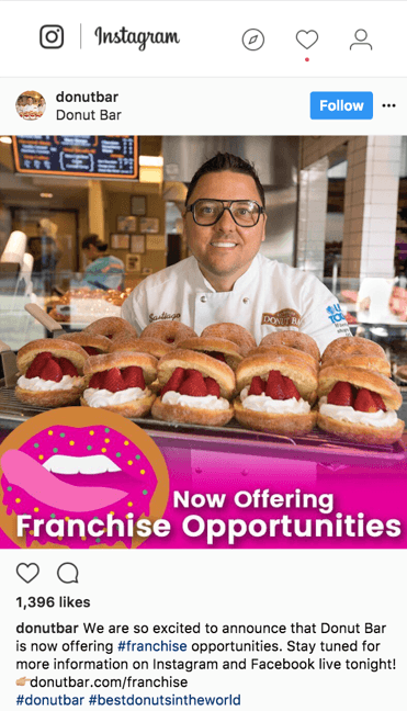 Donut Bar Franchise Ad