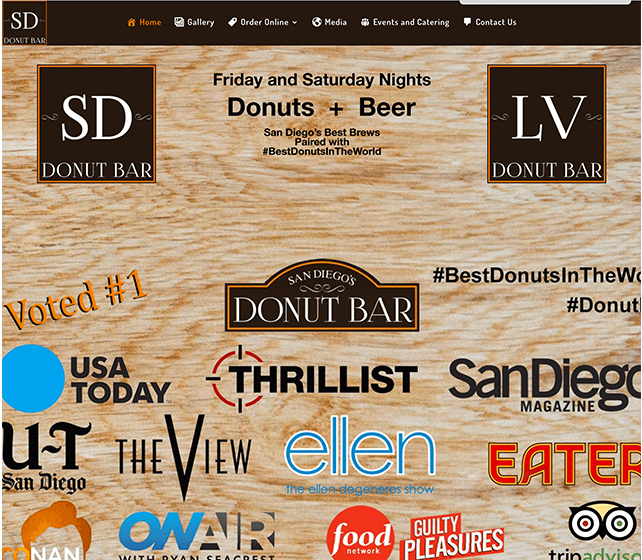 Donut Bar Website Before