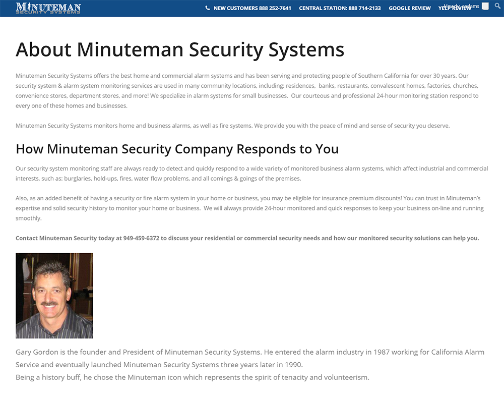 Minuteman Original Website