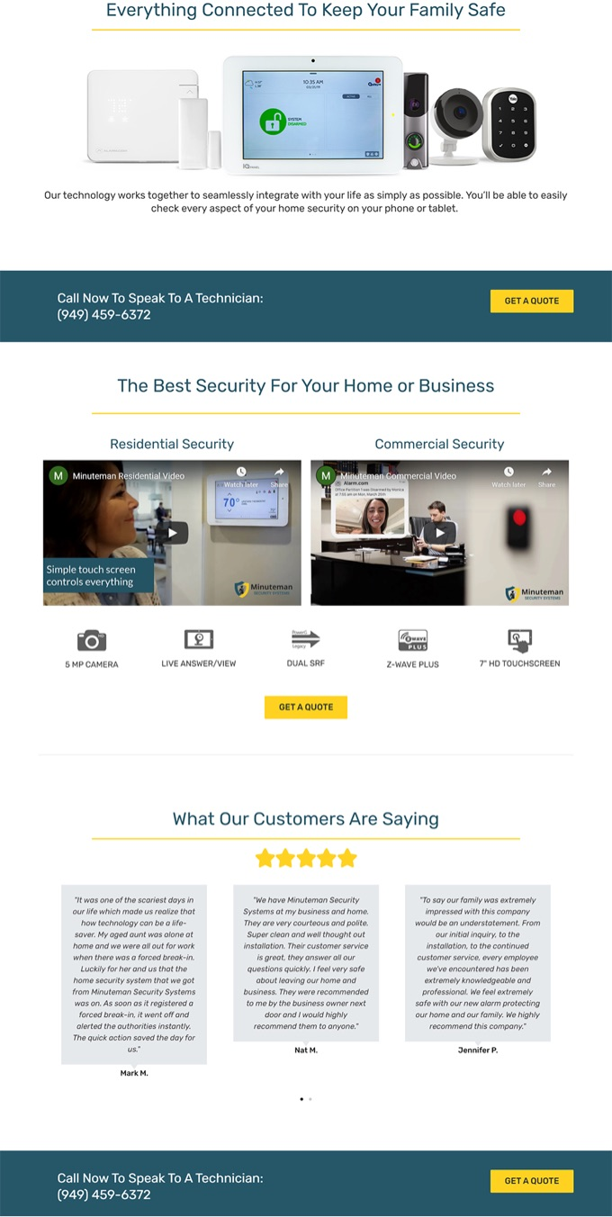 Minutman Secutiry Website updated 2